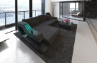Luxury Sofa Hollxwood with LED Lights and USB grey - Hugo 12