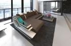 Design stof sofa Hollywood L-formet cappuccino- Mineva 21