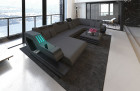Luxury Sectional Sofa Hollywood with LED and USB grey - Mineva 8