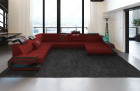 Design Fabric Sofa Hollywood XL Shaped darkred - Mineva 10