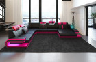 Design Sofa Hollywood XL black-pink