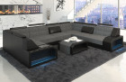 Design Sectional Fabric Sofa San Jose U Shape in Hugo 5 - grey