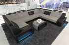 Luxury Sectional Fabric Sofa San Jose U Shape in Mineva 12 - light grey
