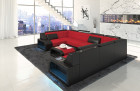 Corner Sectional Fabric Sofa San Jose U Shape in Mineva 20 - red