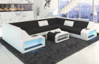 Design Sectional Fabric Sofa San Jose U Shape in Hugo 14 - black