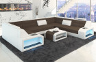 Luxuxry Sectional Fabric Sofa San Jose U Shape in Hugo 8 - brown