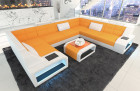 Sectional Fabric Sofa San Jose U Shape with LED Lights in Mineva 16 - apricot