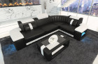 Design Sofa Philadelphia LED lights in black - white