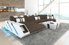 Modern Sectional Sofa New Jersey with recamiere Hugo 8 - Brown