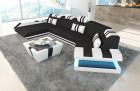 Luxury Fabric Sofa New Jersey C Shaped with Ottoman Mineva 14- Black