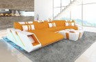 Design Sectional Sofa New Jersey with LED Mineva 16 - Apricot