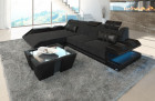 Modern Fabric Sofa New Jersey with LED - grey - Hugo 12