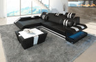 Design Sofa New Jersey with LED - black-white