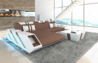 Modern Fabric Sofa New Jersey with LED - lightbrown - Mineva 5