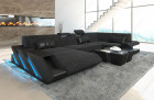 Modern Sectional Sofa New Jersey with LED darkgrey - Hugo 12