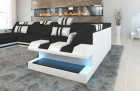 Modern Sectional Sofa New Jersey with LED black - Hugo 14