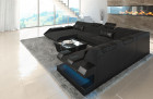 Fabric Sofa New Jersey XL Shape LED with USB connection grey - Hugo 12
