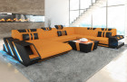 Modern Sectional Sofa New Jersey XL Shape orange - Mineva 16