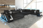 Leather sofa New Jersey XL with sofa bed