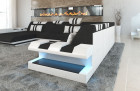 Fabric Sofa New Jersey XL Shape LED with USB connection black - Hugo 14
