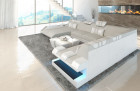 Luxury Fabric Sofa New Jersey with LED beige - Hugo 1
