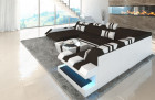 Modern Sectional Sofa New Jersey XL Shape darkbrown - Mineva 18