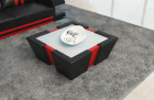 Design coffeetable New Jersey with LED - black-red