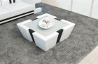Leather Coffee Table New Jersey - white-black