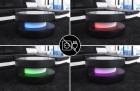 LED lights with touch wheel remote