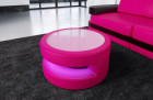 Design coffeetable Brooklyn with LED pink