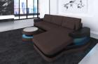 Fabric sectional Sofa Tampa with LED Lights - Hugo 10