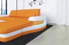 fabric leather mix sofa Tampa L Shape - orange Mineva 16