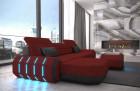 fabric leather mix sofa Brooklyn L Shape - Mineva 10