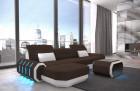 fabric leather mix sofa Brooklyn L Shape - Mineva 7