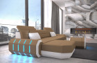 Fabric sectional Sofa Brooklyn with LED Lights - Mineva 9