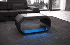 Design coffeetable Brooklyn with LED - black