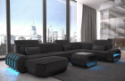 Fabric sectional Sofa Brooklyn with LED Lights - Hugo 12