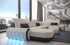 Fabric sectional Sofa Brooklyn with LED Lights - Hugo 1