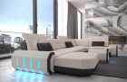 fabric leather mix sofa Brooklyn U Shape - Mineva 1