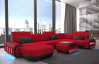fabric leather mix sofa Brooklyn U Shape - Mineva 20