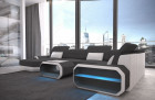 Fabric sectional Sofa Brooklyn with LED Lights - Mineva 8