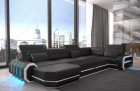 Modern Fabric sofa Brooklyn U with sofa bed
