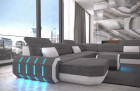 Fabric sectional Sofa Brooklyn with LED Lights - Hugo 5