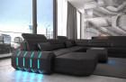 Design Leather Sofa Brooklyn - black
