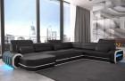 Modern Leather Sofa Brooklyn XL with sofa bed