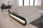 Luxury Fabric Sofa Concept XXL with LED light - ivory Hugo 1