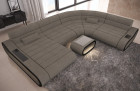Large Sectional Sofa Concept XXL LED lights - grey Fabric Hugo 4