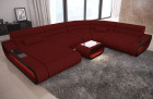 Modern Sectional Sofa Concept ottoman - dark red Fabric Mineva 10