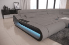 Luxury Sectional Sofa Concept XXL LED lights - Fabric Microfibre Mineva 12