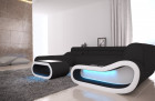 Luxury Sectional Sofa Concept XXL with LED lights - black Fabric Hugo 13